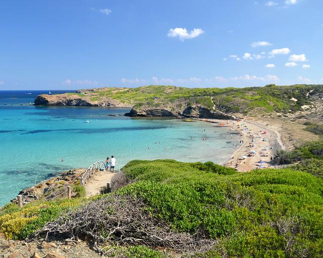 Cala Presili, uma das enseadas mais bonitas do norte de Menorca