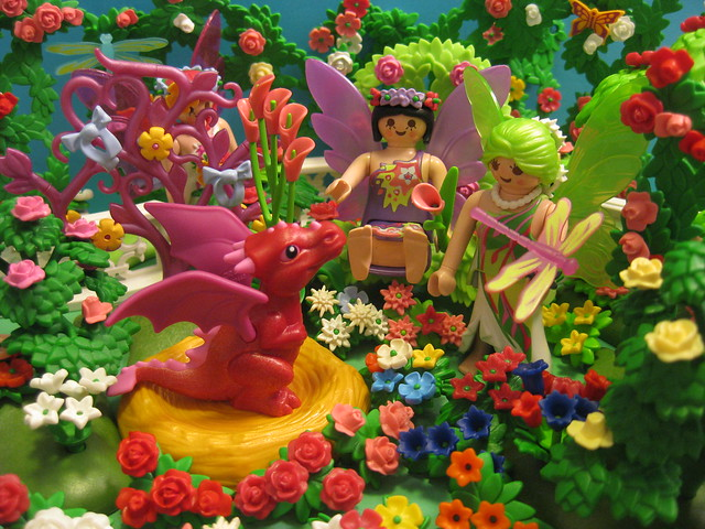 The Faeries Frolic in their Magical Garden