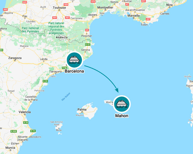 Ferry de Barcelona a Mahon