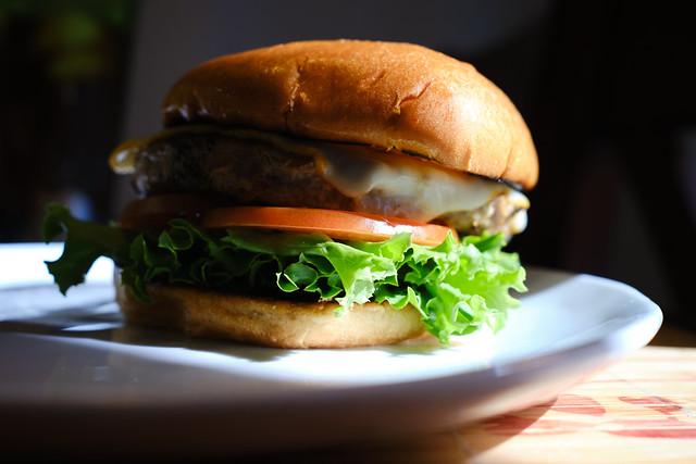 just a turkey burger...