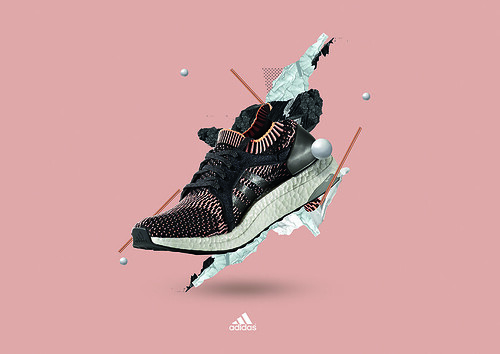 Frame from eight-second loop for women's running trainer Adidas Ultraboost, spring 2017.