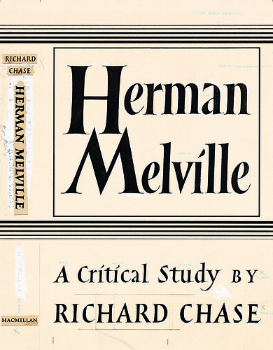 Philip Grushkin, original hand-lettered artwork for the cover of Herman Melville: A Critical Study (Macmillan) New York, 1949.