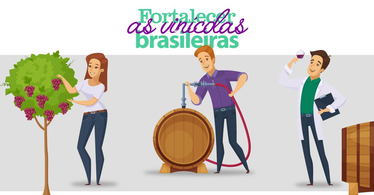 Capa infográfico fortalecer vinícolas brasileiras 2020 - brUva