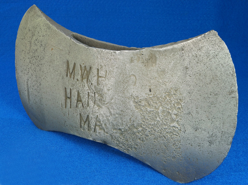 RD29561 Antique Marshall Wells Hardware Co. Hand Made Axe Head DSC07399