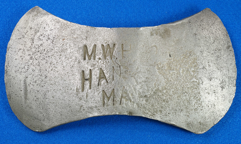 RD29561 Antique Marshall Wells Hardware Co. Hand Made Axe Head DSC07387
