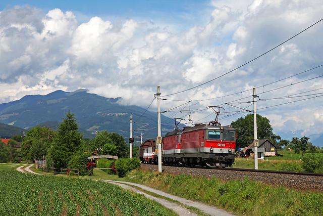 2 x ÖBB 1144 + Güterzug/goederentrein/freight train  - Stuben