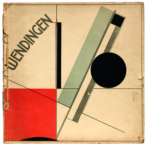 El Lissitzky, cover for Wendingen series 4, no. 11, Netherlands, 1922.
