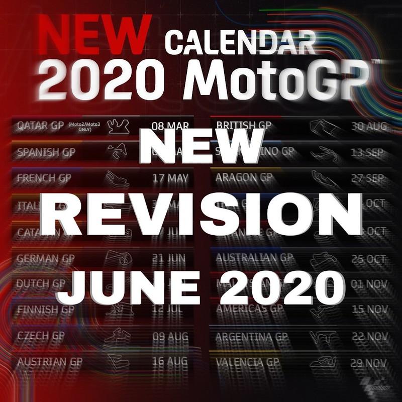 New MotoGP Calender 2020