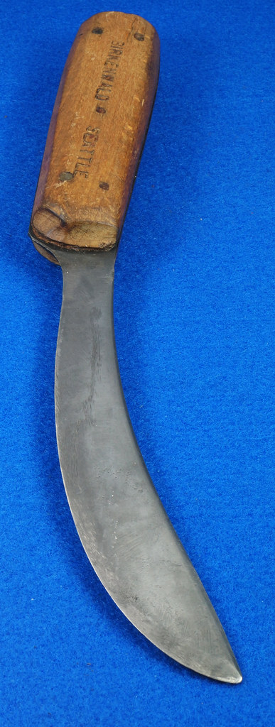 RD27697 Rare Vintage Birkenwald Seattle Full Tang Skinner Knife 5 Pin Handle DSC07367