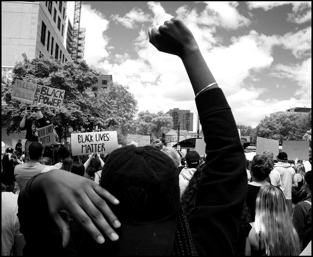 Demonstration against racism and police brutality