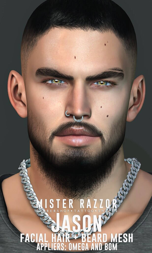 ((Mister Razzor)) Jason Facial Hair + Beard Mesh