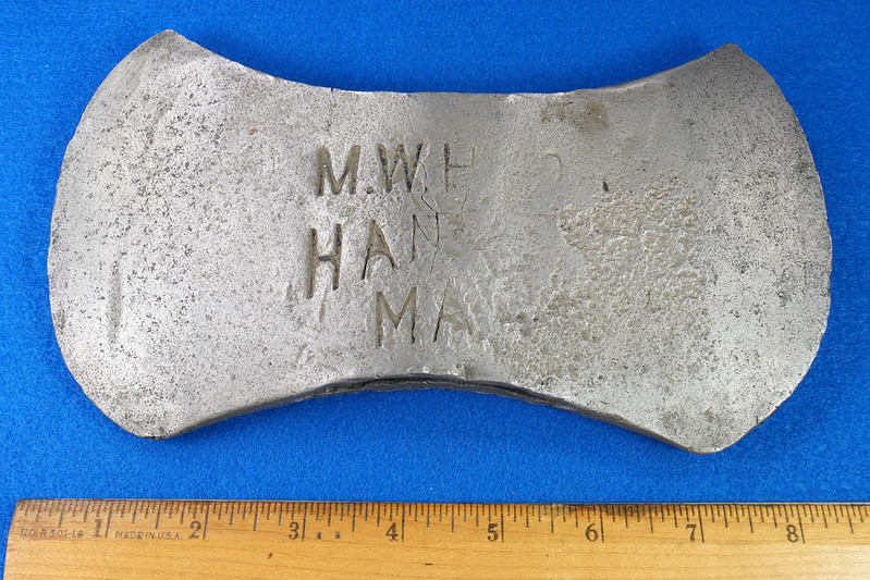RD29561 Antique Marshall Wells Hardware Co. Hand Made Axe Head DSC07386