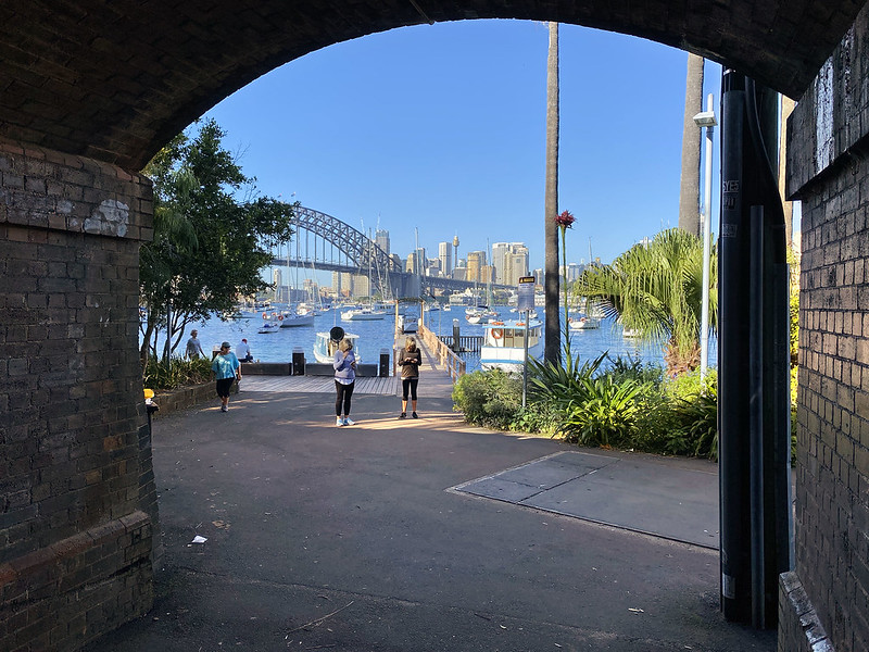 Lavender Bay through the tunnel