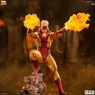 帥氣的漫畫造型現身,那位可以操控火焰的男人! Iron Studios Battle Diorama 系列 Marvel Comics【火人】Pyro 1/10 比例全身雕像