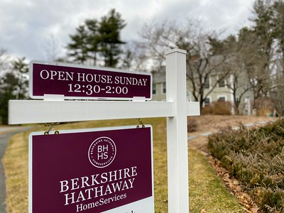 Open House Sunday - House for Sale with Sign Out Front