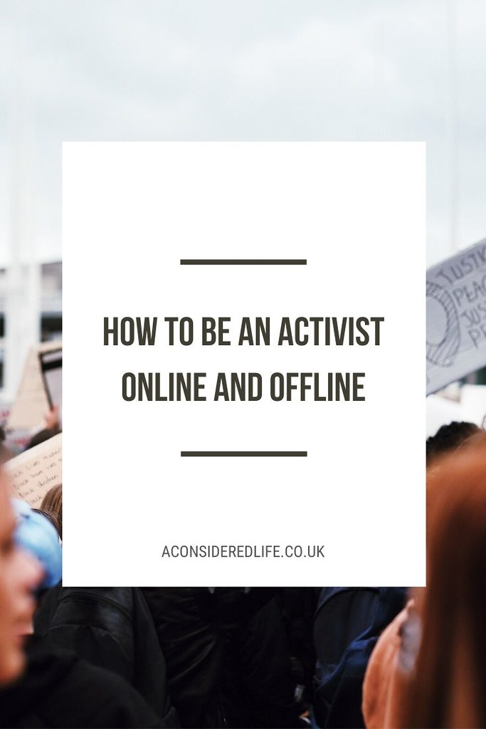 Being An Activist, Online and Offline