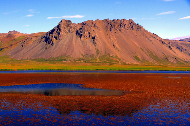 Surrealism of Icelandic landscape