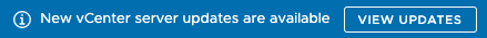 """vCenter 7.0 stating """"New vCenter server updates are available"""" while there are no updates?"""