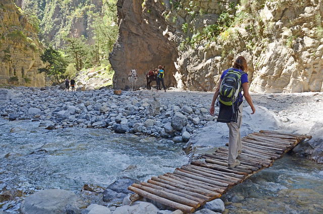 Walking the Samaria Gorge, Crete, Greece