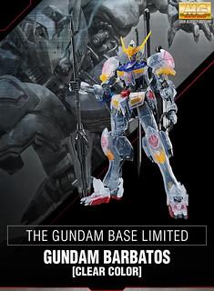 【GUNDAM BASE 限定】 MG 1/100《機動戰士鋼彈 鐵血孤兒》ASW-G-08 獵魔鋼彈[透彩版本](ガンダムバルバトス [クリアカラー])