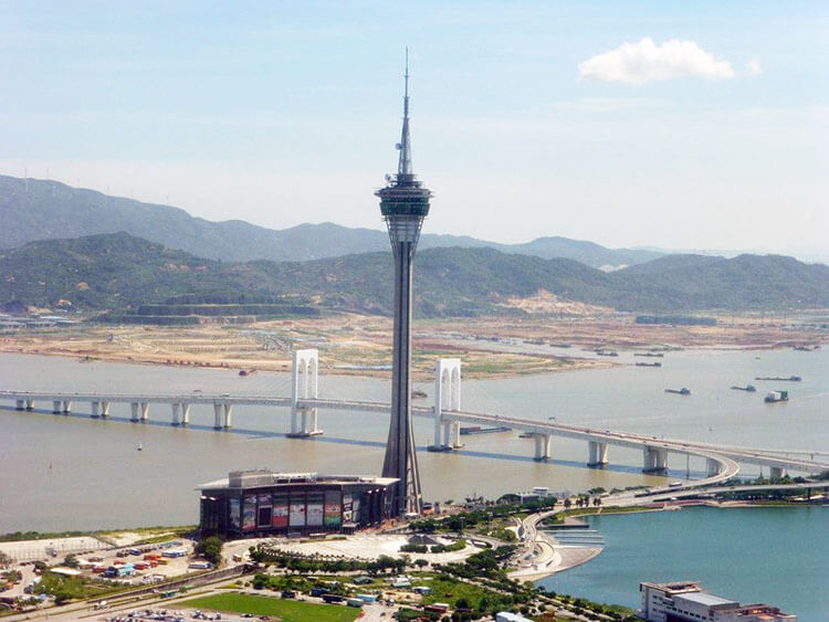 overview of Macau from the Macau Tower