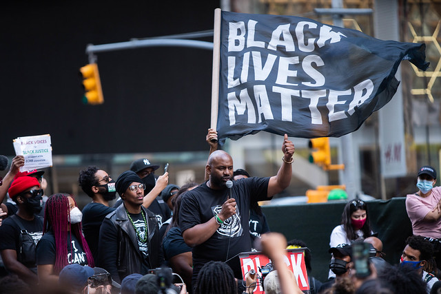 Black Lives Matter Protest Times Square New York City June 7 2020