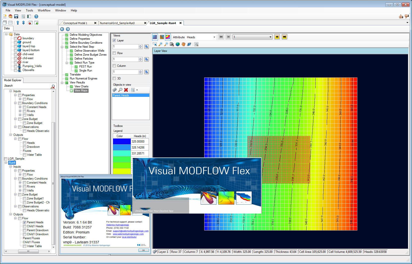 Working with Waterloo Hydrogeologic Visual MODFLOW Flex 6.1 full license