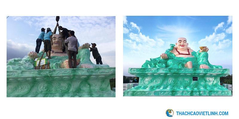 Công trình tượng di lạc cao 3,9m ngang 5m ,rộng 3m tại Bình Chánh