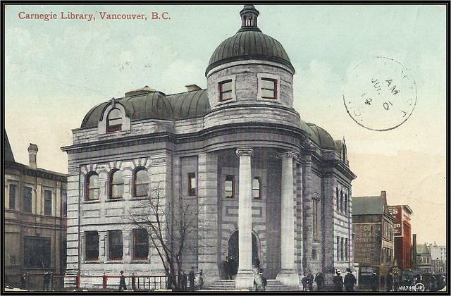 c. 1910 Valentine & Sons' Postcard (#105,705) - View of the Carnegie Library at Vancouver, British Columbia