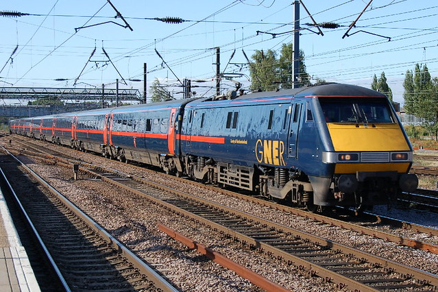 GNER Class 91 91131 'County of Northumberland' - Doncaster