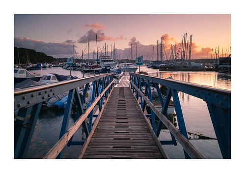 mylor yacht harbour falmouth penryn cornwall england uk britain june landscape outdoor sunrise path bridge marine coast boats slipway masts