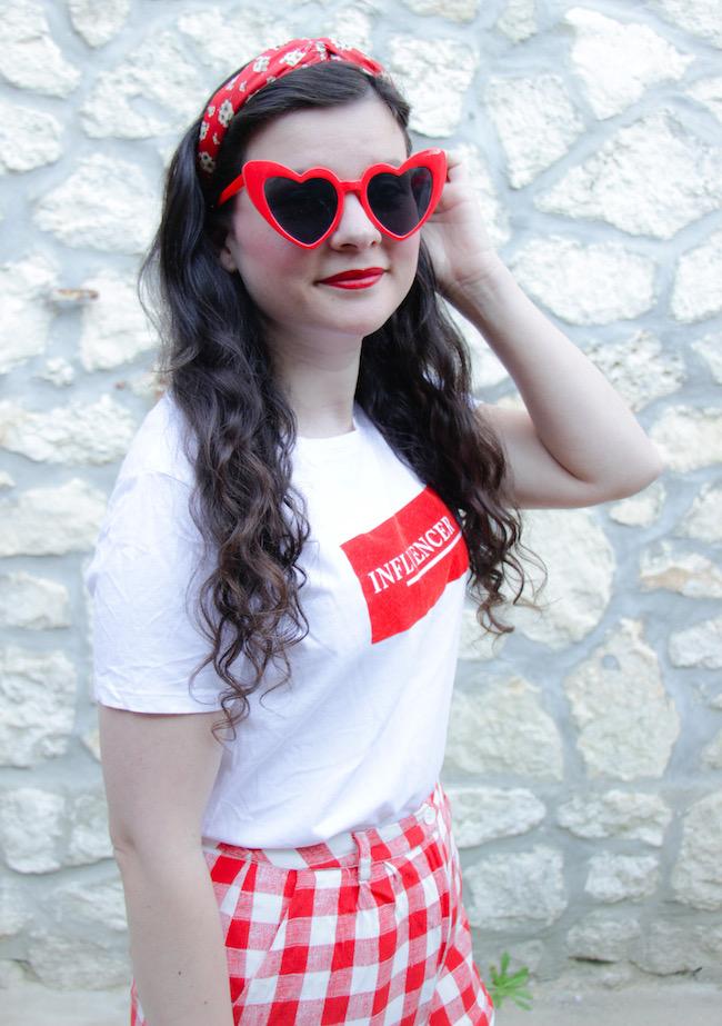 look-t-shirt-blanc-short-vichy-ballerines-rouges-blog-mode-la-rochelle-3