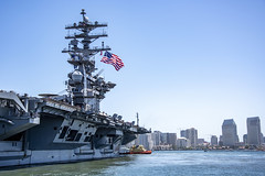 USS Nimitz (CVN 68) departs Naval Air Station North Island, June 8. (U.S. Navy/MC2 Natalie M. Byers)