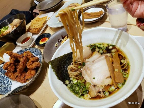 Shoyu ramen noodles