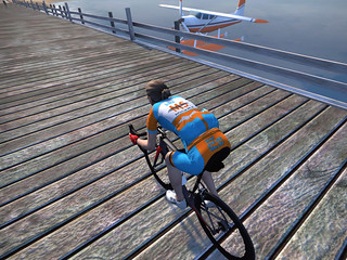 Flew my BikeMS kit on my virtual Escape to the Lake