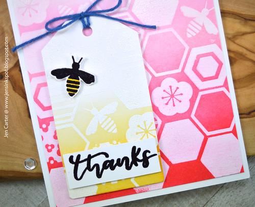 Jen Carter Beehive Thanks Honeycomb Closeup