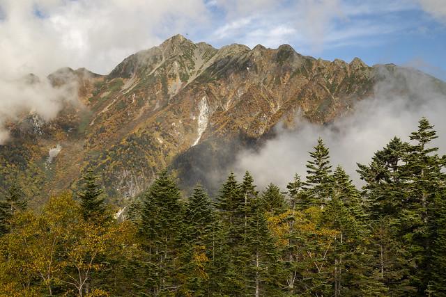 View of some high peaks of the Northern Japanese Alps 2