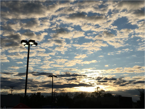 pikesville maryland clouds sunset lampposts iphone