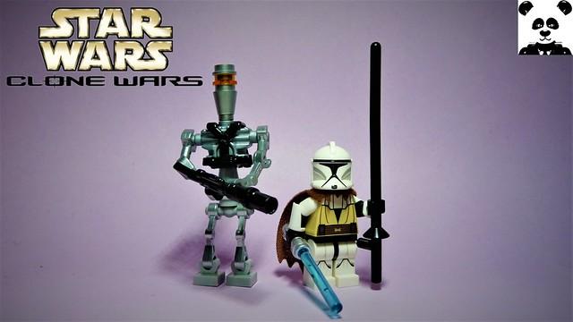 Lancer Droid and General Kenobi (Clone Wars - 2003)