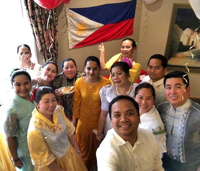 The Filipino staff of Ilam Avida Retirement Care in their national costumes
