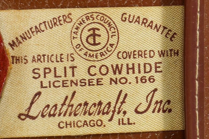 RD24057 Vintage Mid Century Leathercraft Chicago Split Cowhide Leather Briefcase, Attache DSC07550