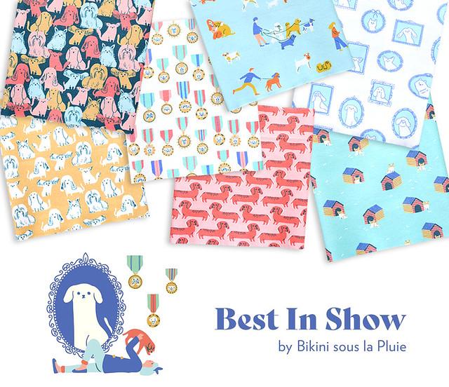 Paintbrush Studio Fabrics Best in Show Collection by Bikini Sous La Pluie