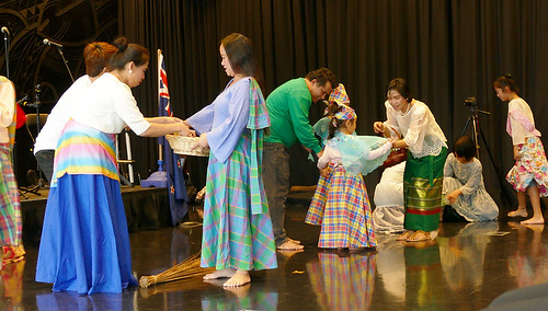 PCMS members performing a skit