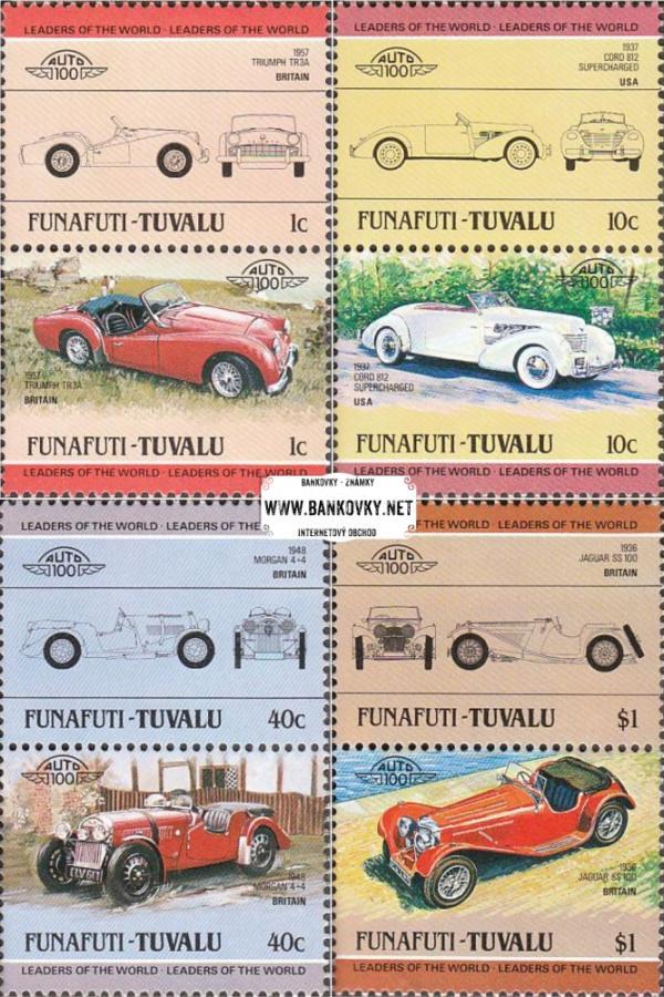 Známky Tuvalu - Funafuti 1984 Staré automobily