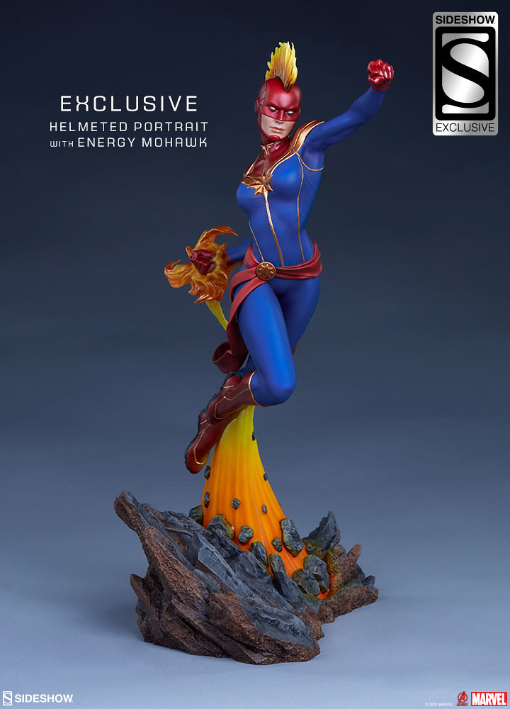 Sideshow Collectibles Avengers Assemble 系列【驚奇隊長】Captain Marvel 1/5 比例全身雕像 普通版/EX版