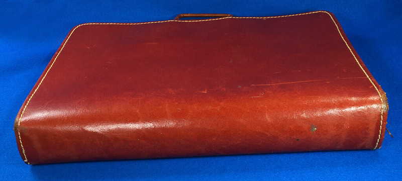 RD24057 Vintage Mid Century Leathercraft Chicago Split Cowhide Leather Briefcase, Attache DSC07547