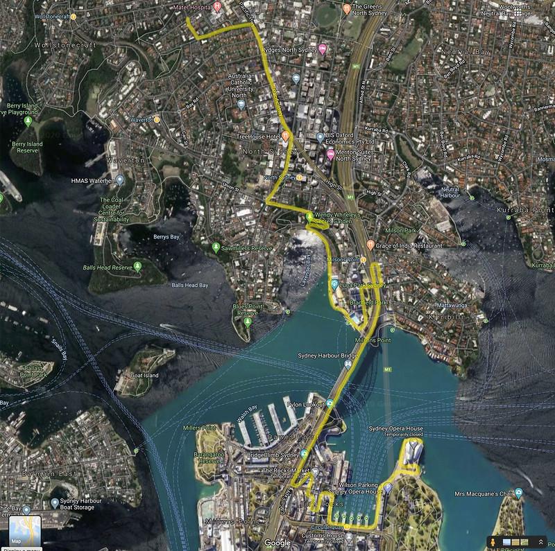 Opera House walk map