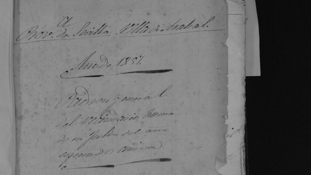 El Archivo Municipal de Arahal publica el Padrón Municipal de Habitantes de 1857