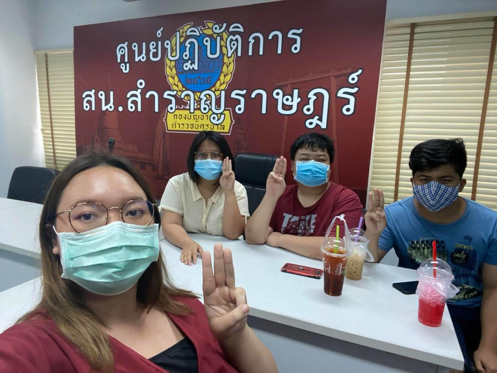 Students arrested over white ribbon campaign for disappeared activist |  Prachatai English