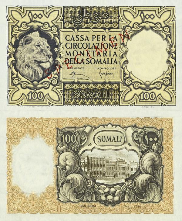 100 Somali Taliansky Somaliland 1950 P15s - REPLIKA